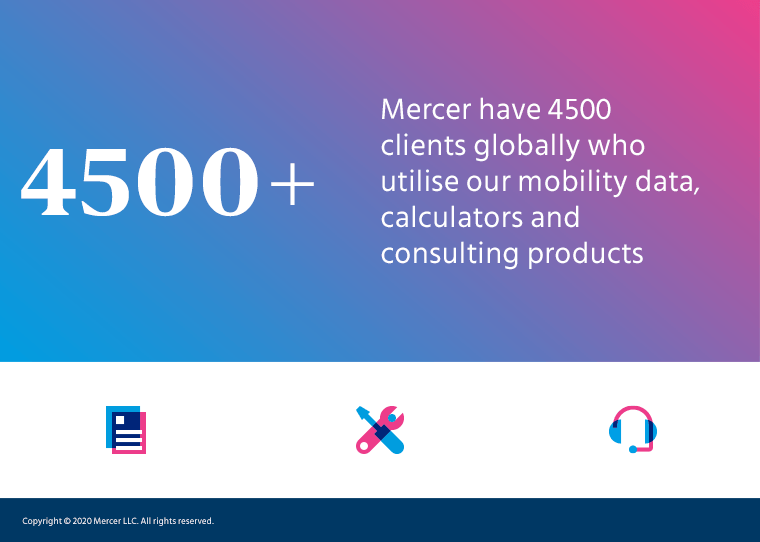 Mercer have 4500 mobility data and consulting clients